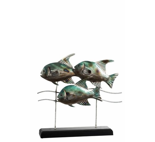 J -Line Decoration Fishing On foot Metal Wood Blue - Gray
