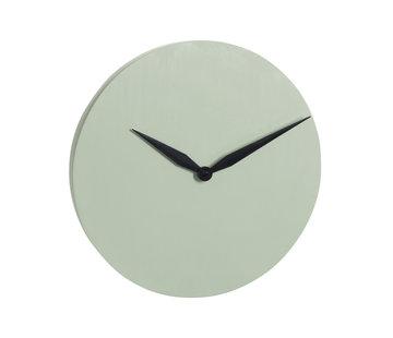 J -Line Wall Clock Round Modern Stone - Light Green