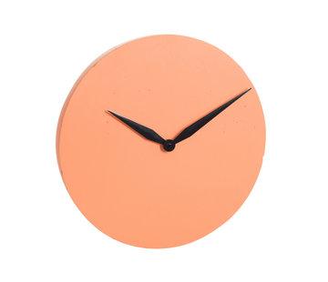 J -Line Wall Clock Round Modern Stone - Orange