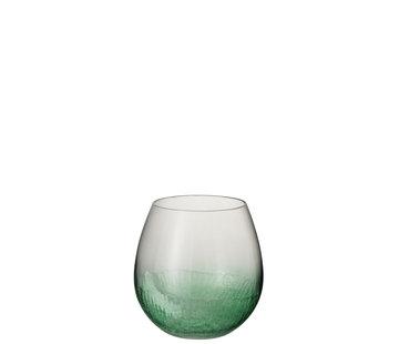 J -Line Windlicht Glas Bol Groen - Small