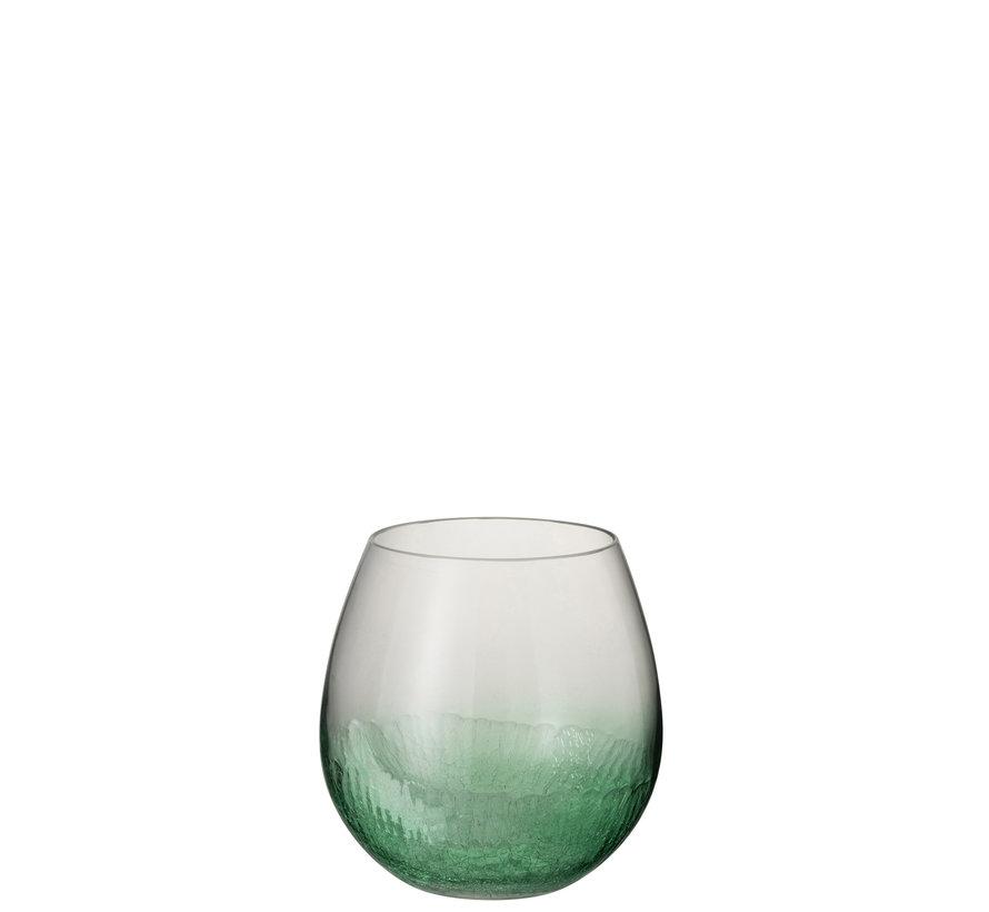 Windlicht Glas Bol Groen - Small