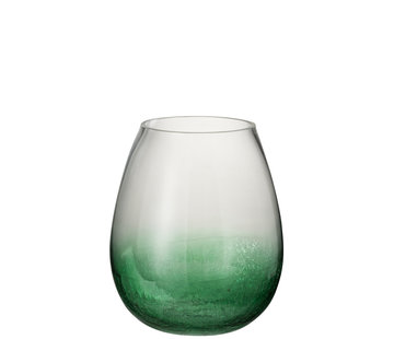 J -Line Windlicht Glas Bol groen - Large