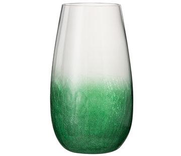 J -Line Windlicht Glas Bol Hoog groen - Large