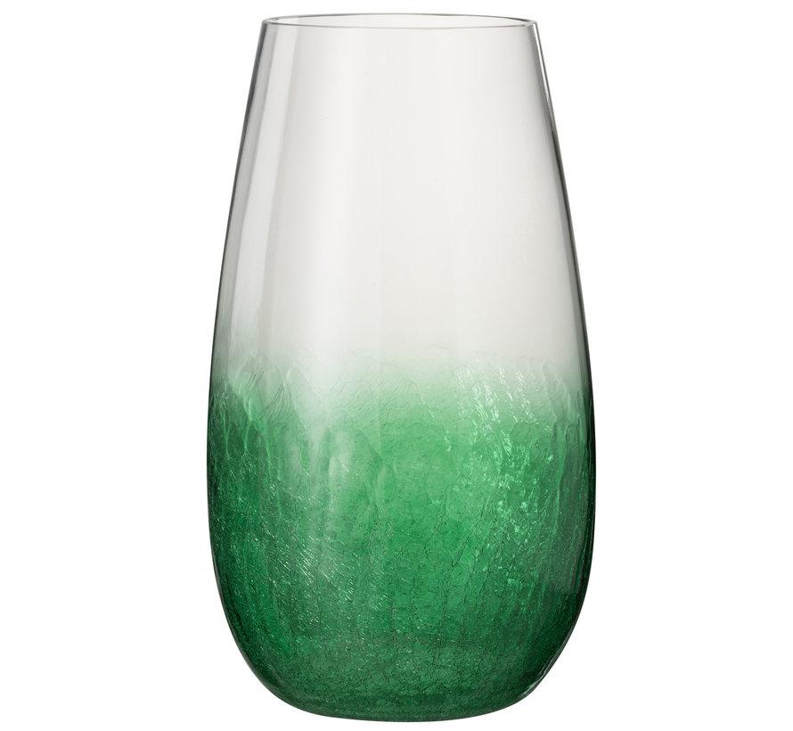 Windlicht Glas Bol Hoog groen - Large