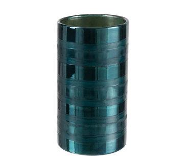 J -Line Windlicht Glas Cilinder Hoog  Blauw - XL