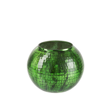 J -Line Windlight sphere Hammered Glass Green - Large