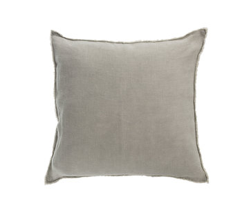 J-Line Cushion Linen Square Washed - Green