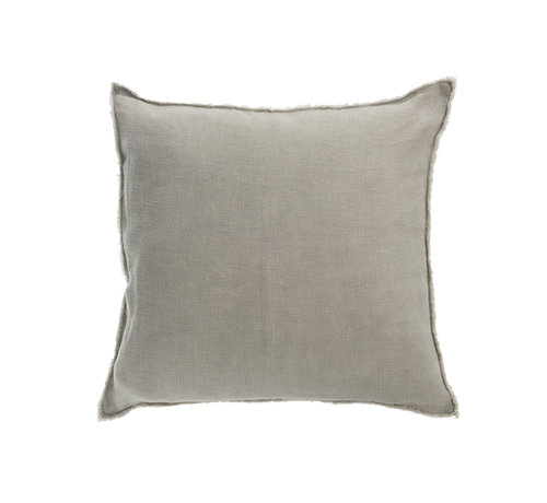J -Line Cushion Linen Square Washed - Green