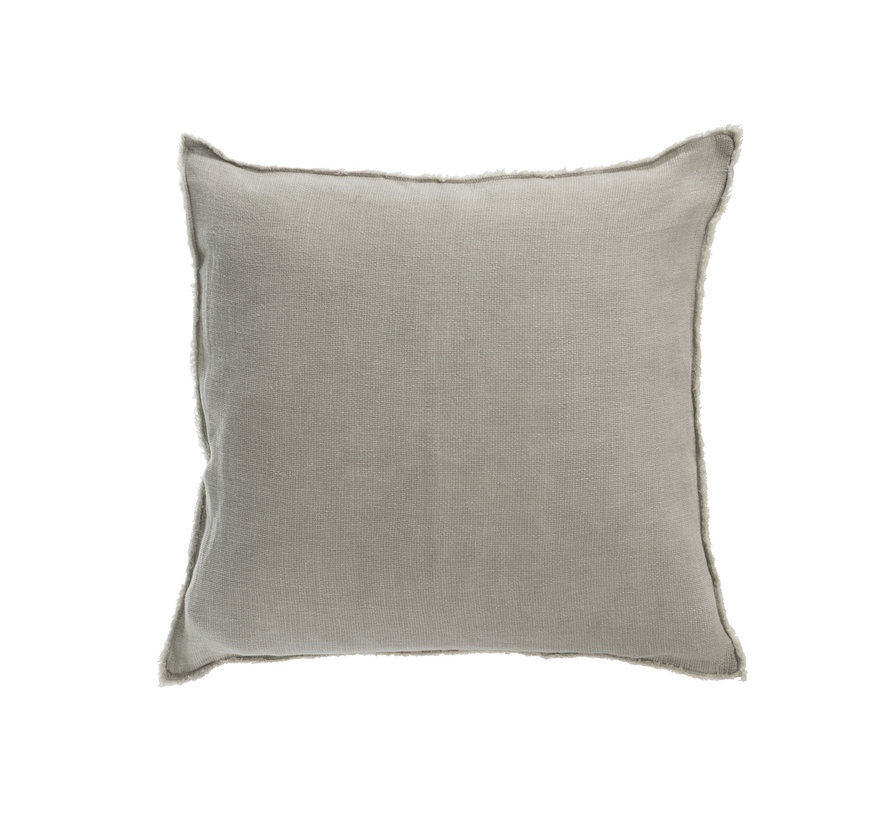Cushion Linen Square Washed - Green
