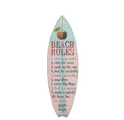 J -Line Decoration Board Surfboard Wood Blue Pink - Mix