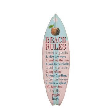 J -Line Decoration Board Surfboard Wood Blue Pink - Mix