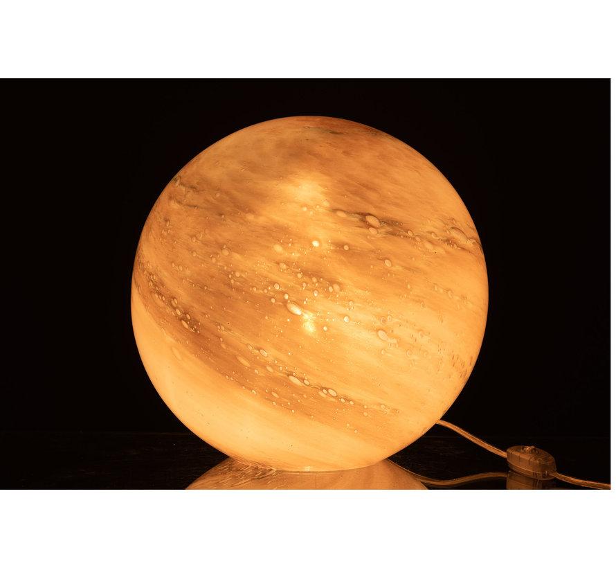 Tafellamp Glas Bol  Marmer Roze - Large