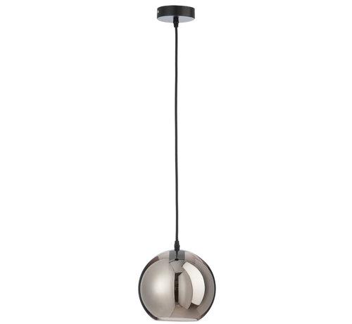 J-Line Hanglamp Glas Bol Modern Zilver - Small