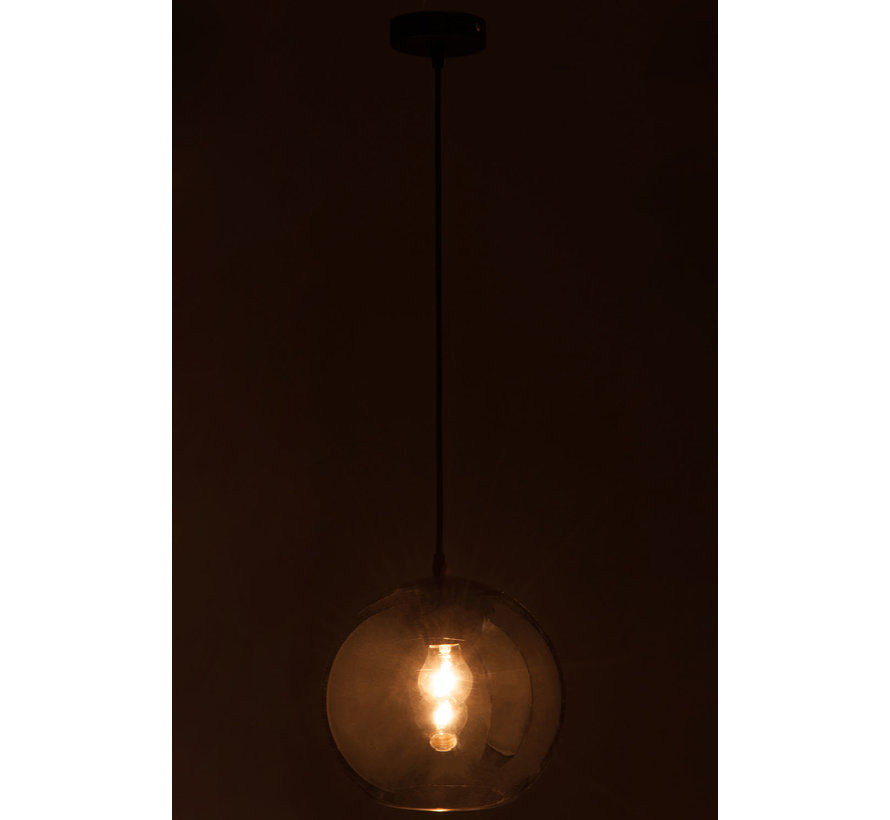 Hanglamp Glas Bol Modern Zilver - Medium