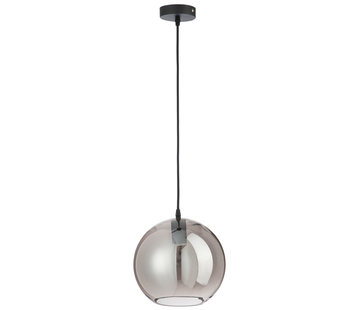 J -Line Hanglamp Glas Bol Modern Zilver - Medium