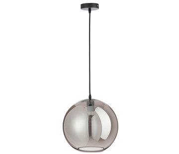 J -Line Hanglamp Glas Bol Modern Zilver - Large