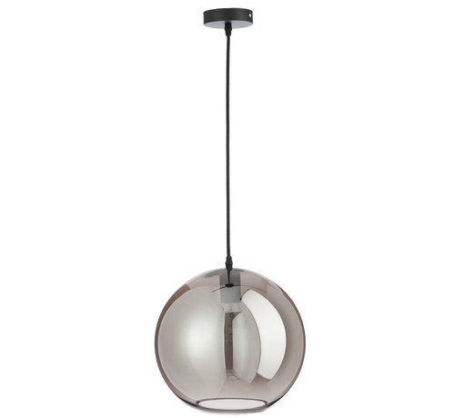 J -Line Hanging lamp Glass Ball Modern Silver - Large