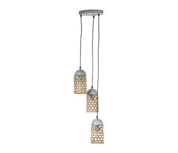 J -Line Hanglamp Metaal Natuurlijk Bamboo - Bruin