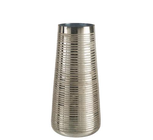 J -Line Vaas Glas Gestreept Goud - Small