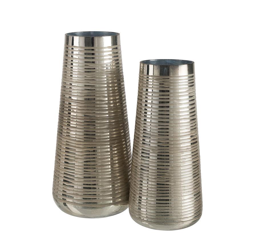 Vase Glass Striped Gold - Large