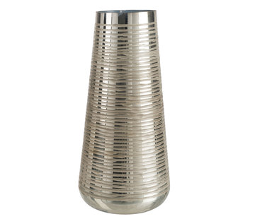 J -Line Vase Glass Striped Gold - Large