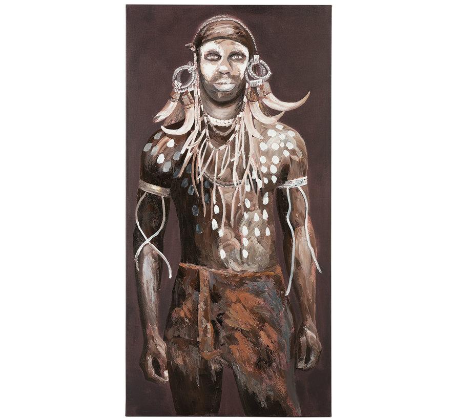 Decoratie Canvas Afrikaanse Man Donkere - Kleuren
