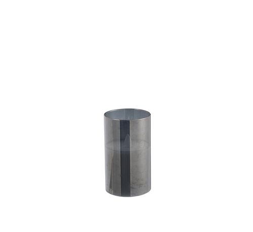 J -Line Led Kaars Cilinder Blinkend Zilver - Small