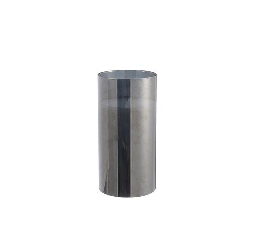J-Line  Led Candle Cylinder Shiny Silver - Medium
