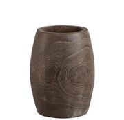 J -Line Flowerpot Cylinder High Dark Brown - Small