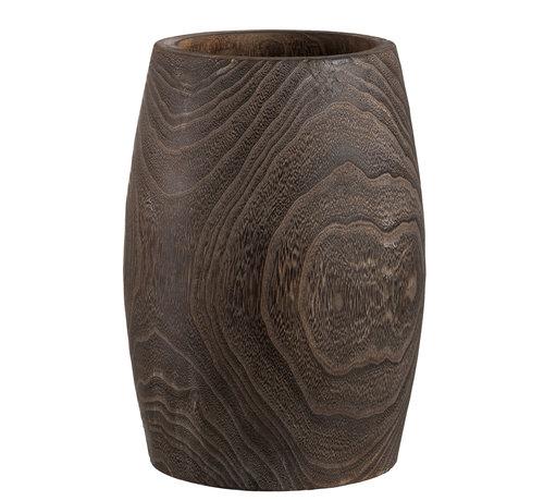 J -Line Flowerpot Cylinder High Dark Brown - Large