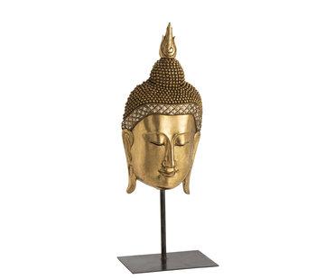 J -Line Decoration Statue Buddha Base Poly - Gold