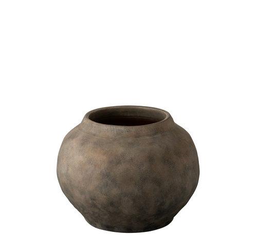 J -Line Flowerpot Terracotta Round Brown - Small