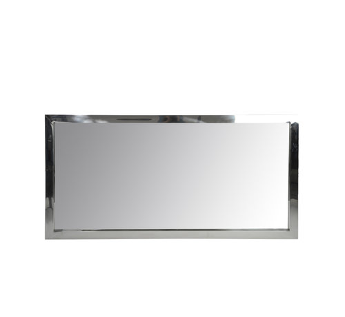J -Line Wall Mirror Rectangular Stainless Steel Shiny - Silver
