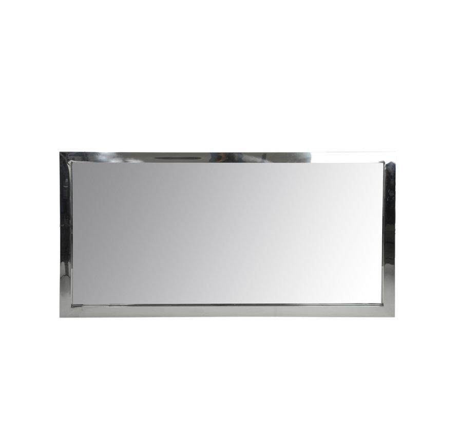 Wandspiegel Rechthoekig Roestvrij Staal Blinkend - Zilver