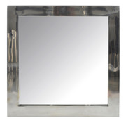 J -Line Wall mirror Square Stainless Steel Shiny - Silver