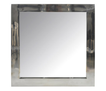 J -Line Wandspiegel Vierkant Roestvrij Staal Blinkend - Zilver