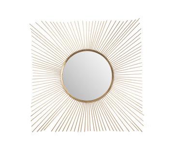 J -Line Wandspiegel Zonnestralen Metaal Glas - Goud