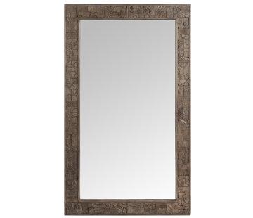 J -Line Wall mirror Rectangle Wood Decoration - Medium