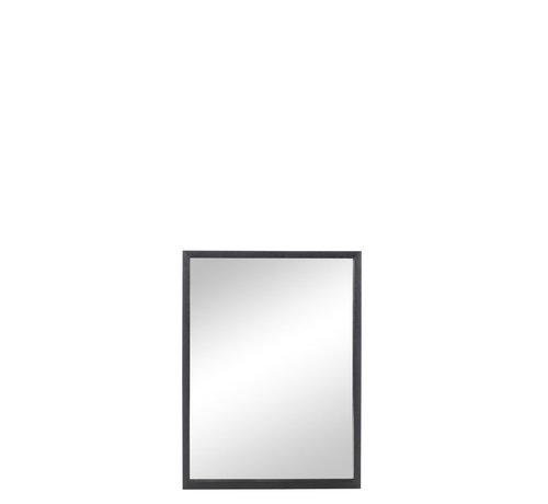 J -Line Wall mirror Rectangle Wood Black - Medium