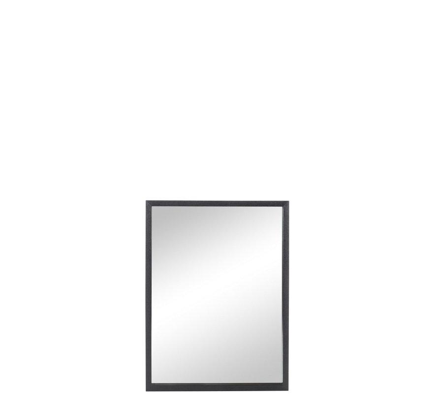 Wall mirror Rectangle Wood Black - Medium