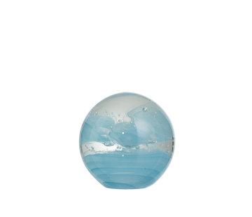 J -Line Papiergewicht Glas Bol Cycloon Blauw - Large