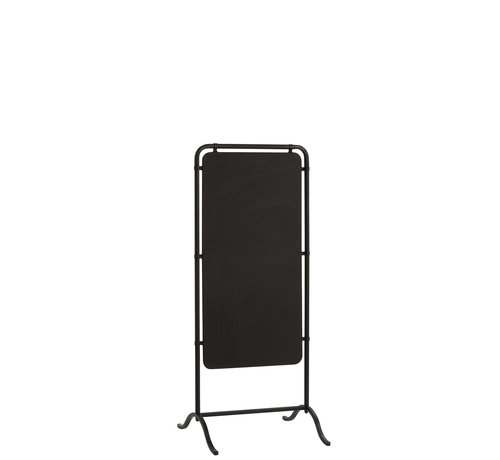 J -Line Blackboard Standing Rectangle Metal - Black