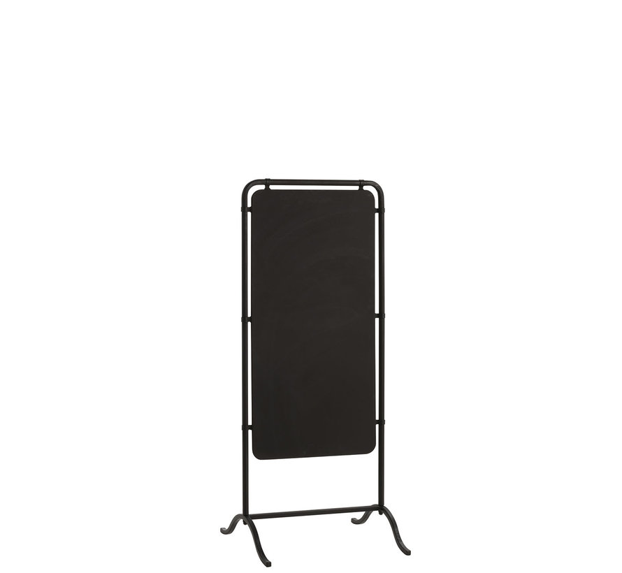 Blackboard Standing Rectangle Metal - Black