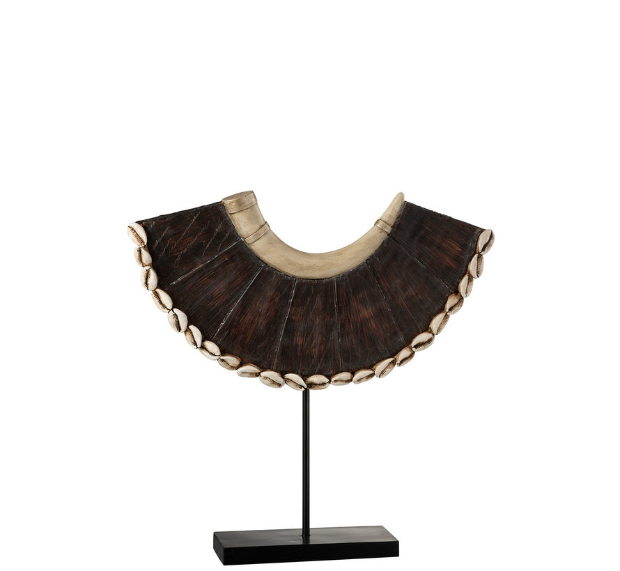 Decoration Wreath Base African Poly Brown - Beige