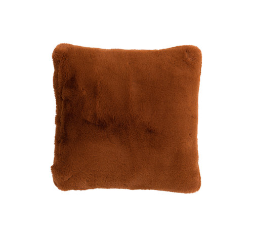 J-Line Cushion Polyester Square Extra Soft - Brown
