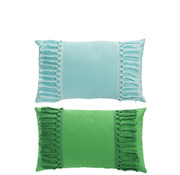 J -Line Cushion Polyester Rectangle Tassels Green - Blue