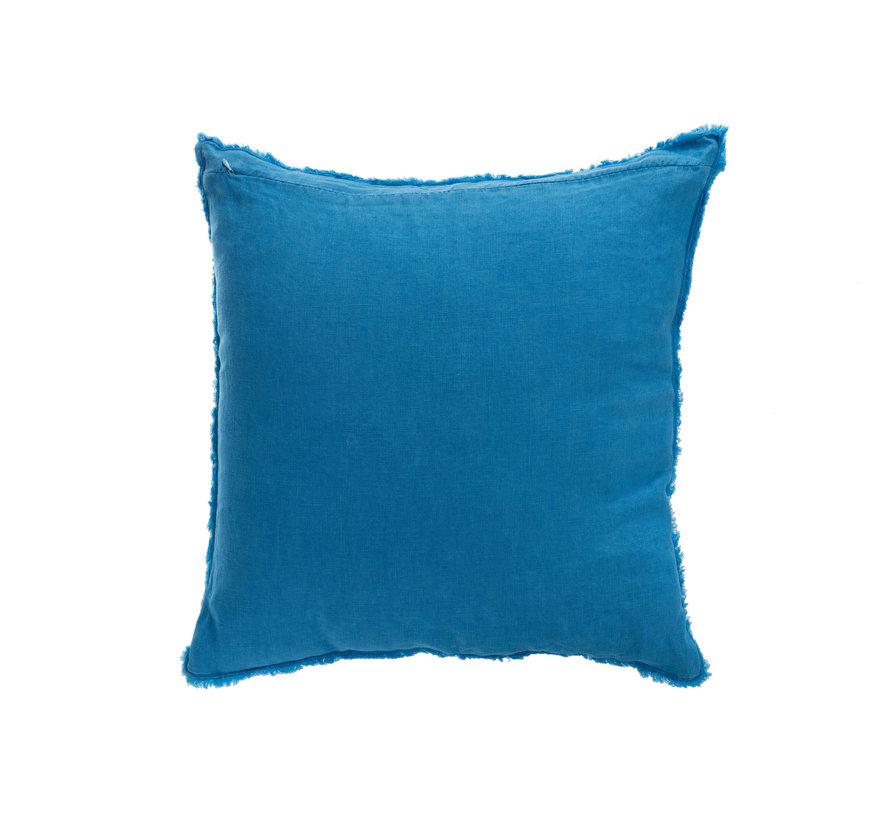Kussen Linnen Viekant Stonewashed - Blauw