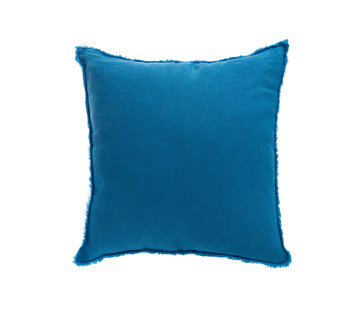 J -Line Cushion Linen Square Stonewashed - Blue