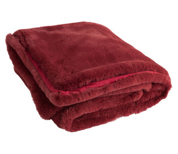 J -Line Plaid Polyester Extra Soft - Red