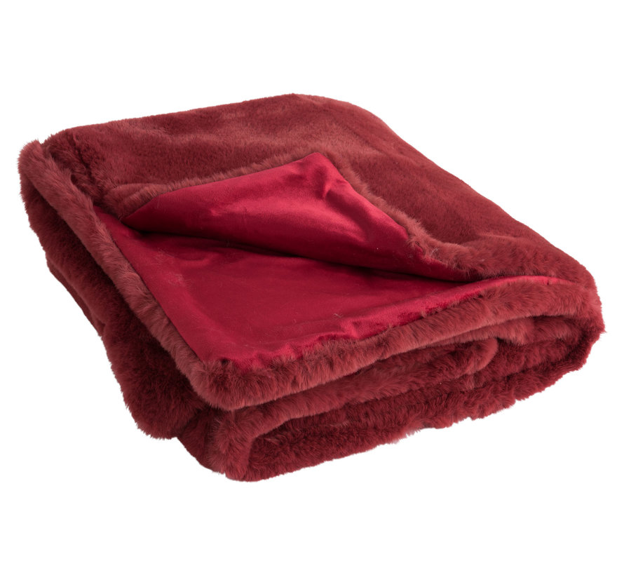 Plaid Polyester Extra Zacht - Rood